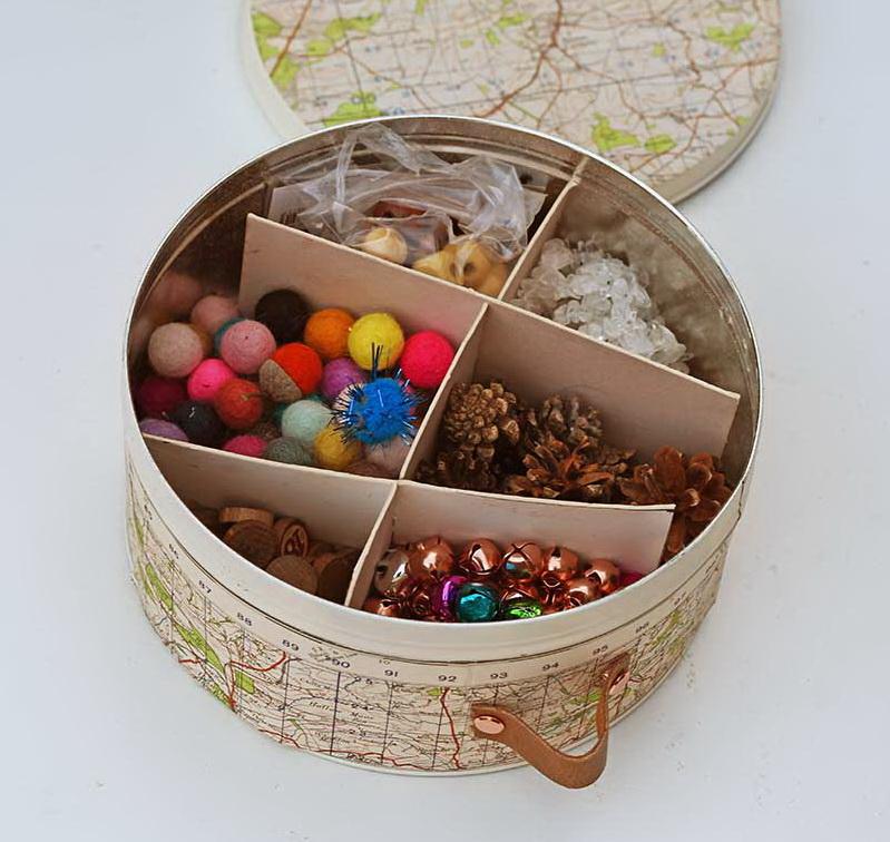 Коробка для хранения вещей своими руками - поместите картонки в банку
