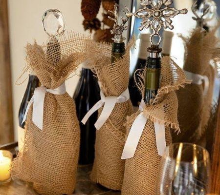 Оформление винных бутылок своими руками