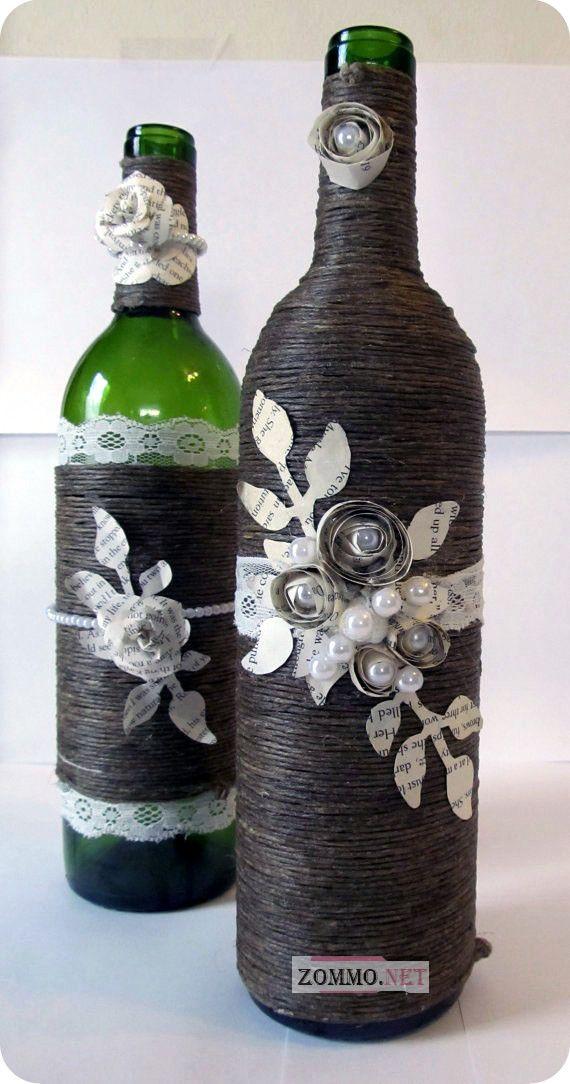 бутылка с цветочком