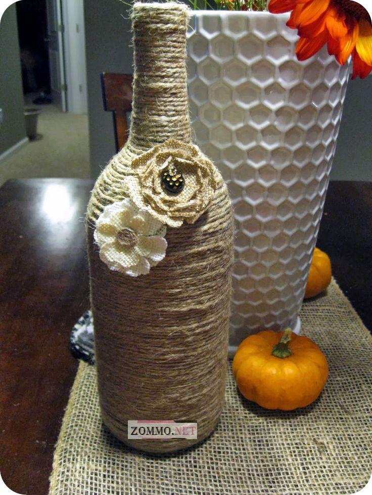 бутылка вина с цветочком