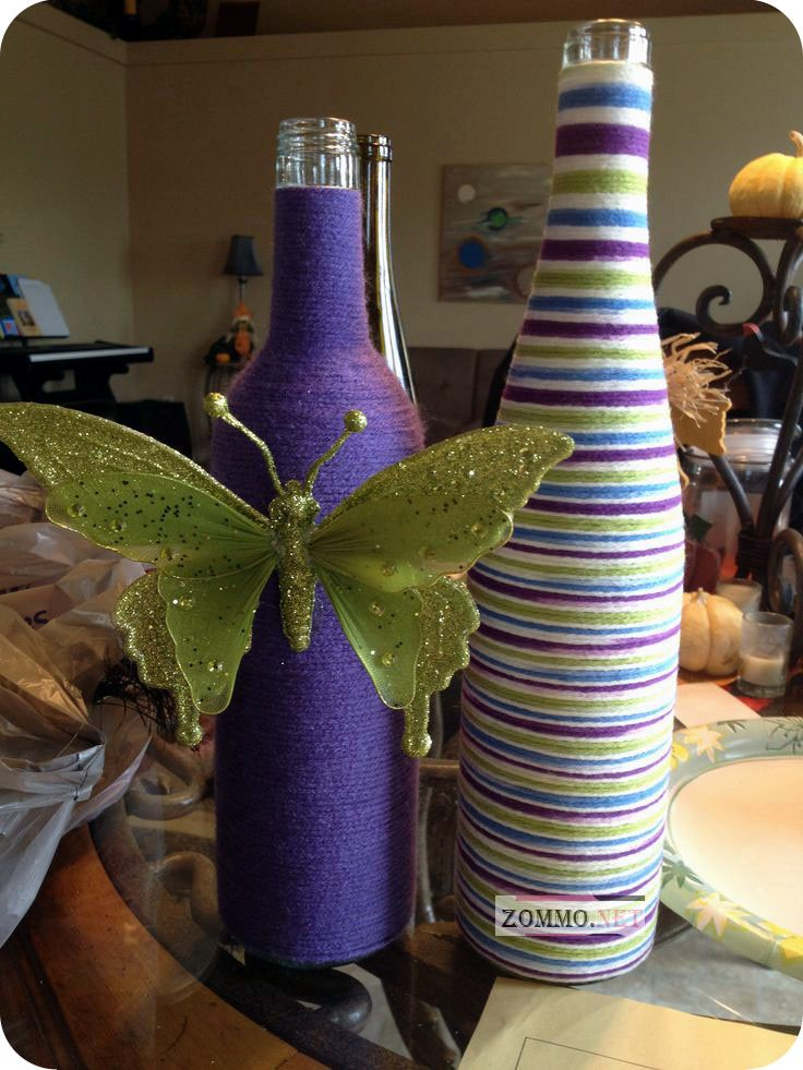 бутылка вина с бабочкой