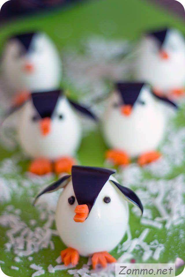 пингвины из куриных яиц