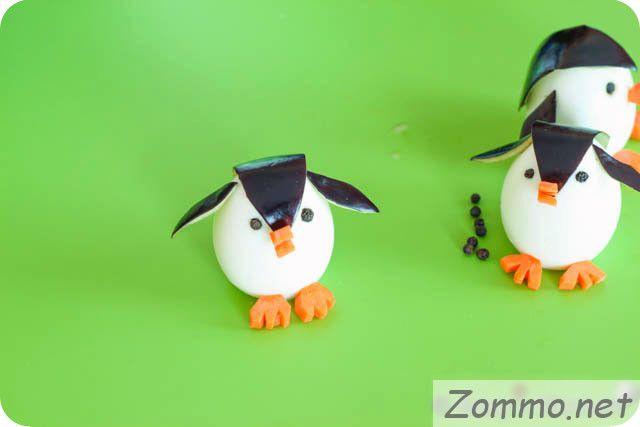 пингвины из еды