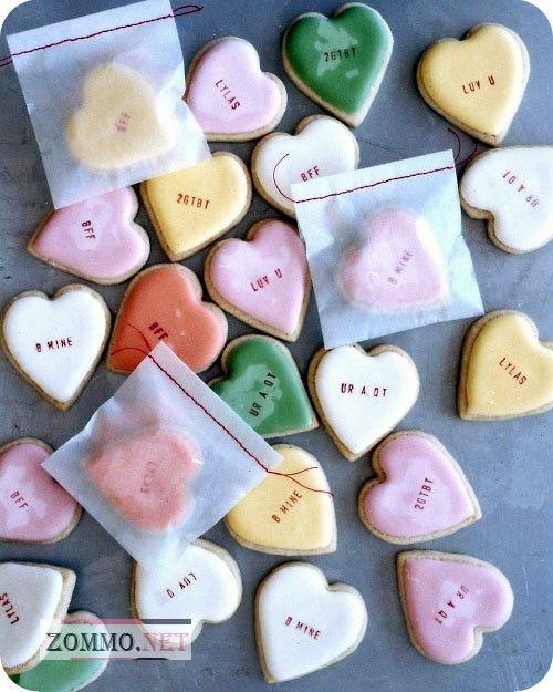 Песочное печенье в виде сердечек