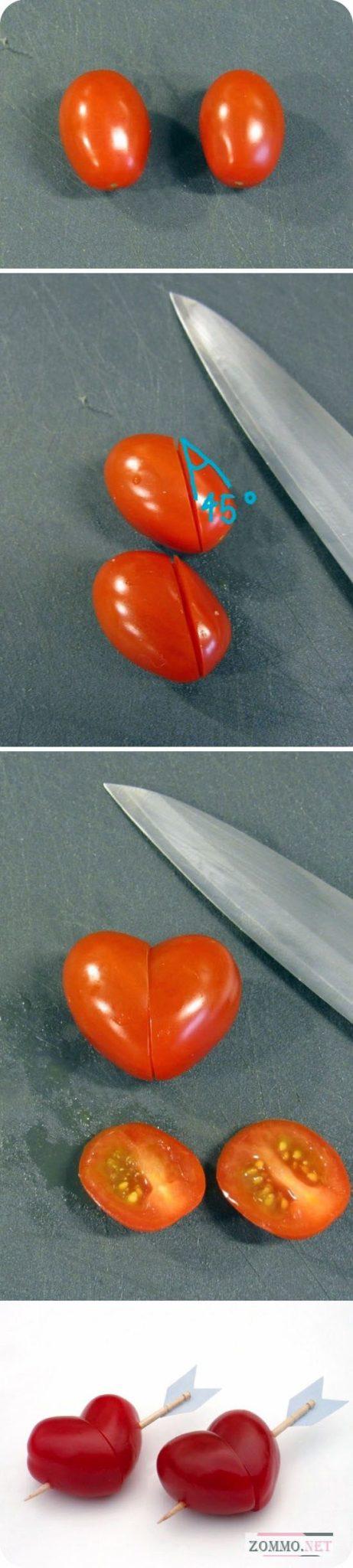 Сердце из помидора