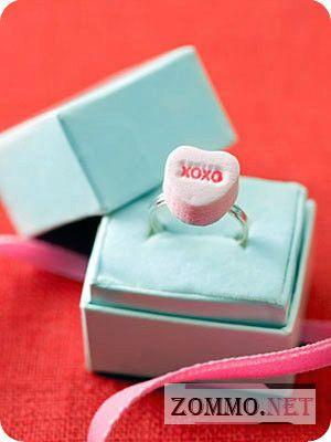Кольцо-конфета с сердцем
