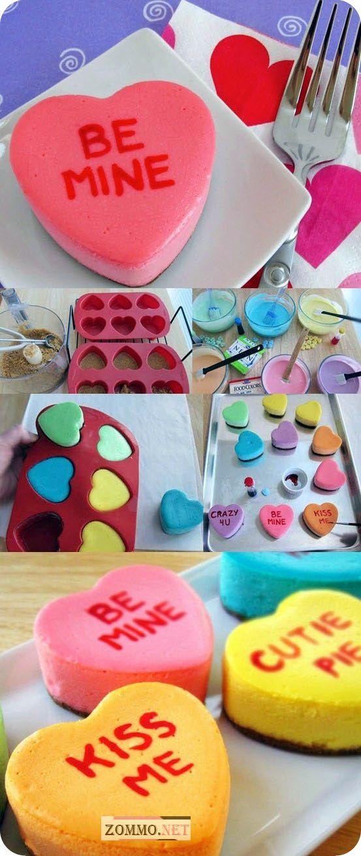 Разноцветные сердечки-сырники