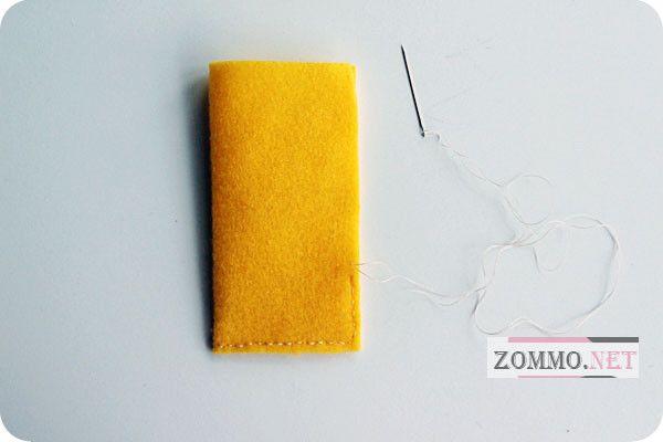 Подкладка из фетра на телефон