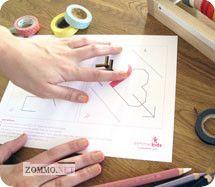 Как делается детская валентинка из бумаги