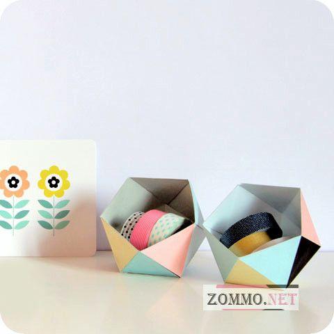 Геометрические коробочки из бумаги своими руками