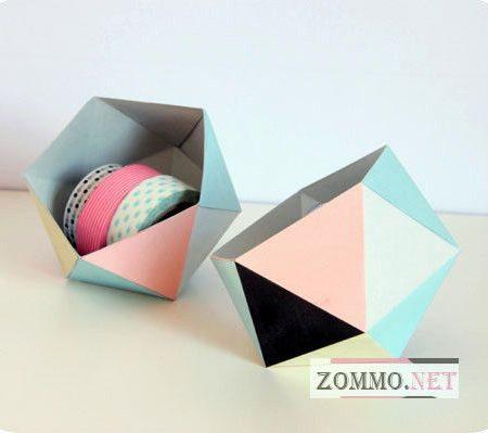 Простая коробочка оригами своими руками