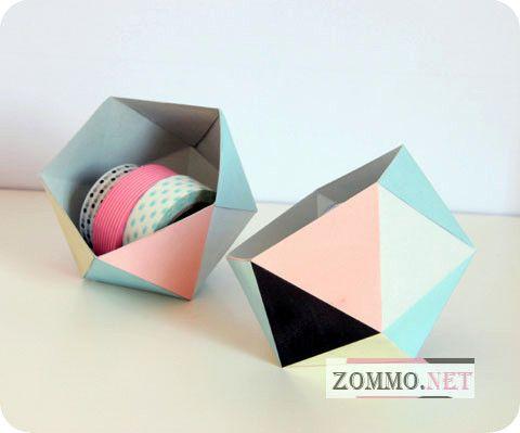 Геометрическая коробочка из бумаги