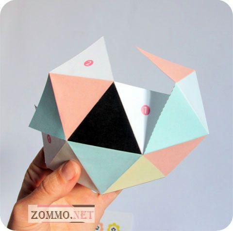 Как делается геометрическая коробочка из бумаги