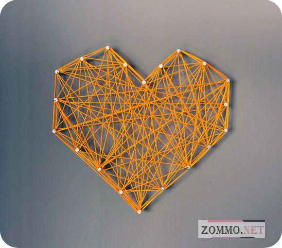 Красивое и простое сердце на стену