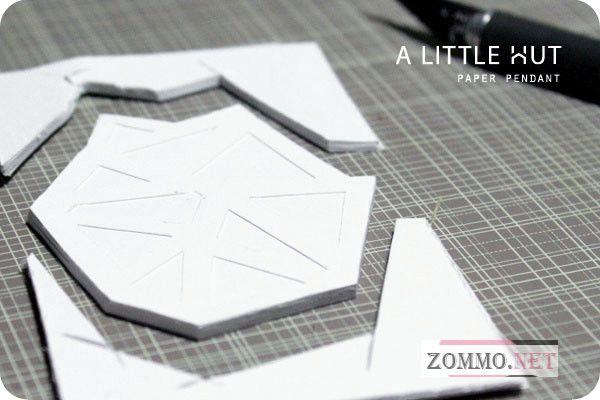 Как сделать кулон из бумаги