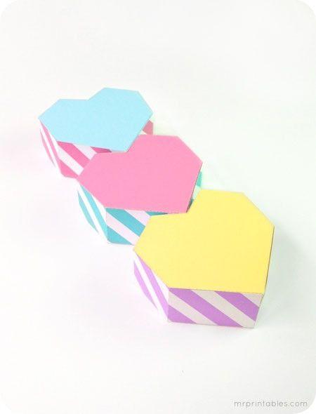 Подарочная коробочка сердечко из бумаги