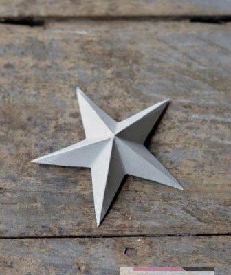 Объемная маленькая звездочка из бумаги своими руками