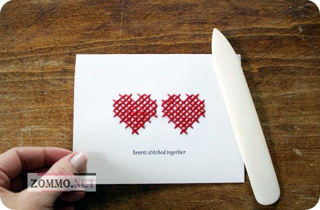 как сделать открытку-валентинку своими руками