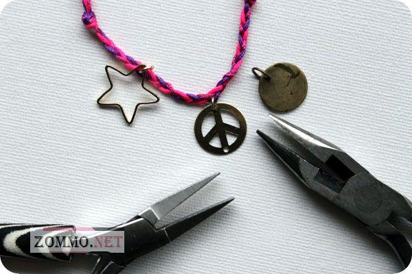 Простые плетеные браслеты