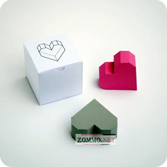 оригами из бумаги сердце
