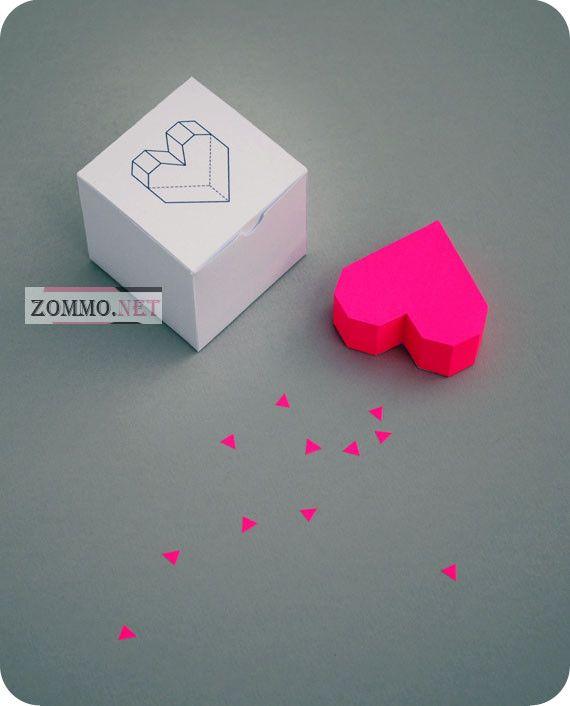 как делать сердце из бумаги