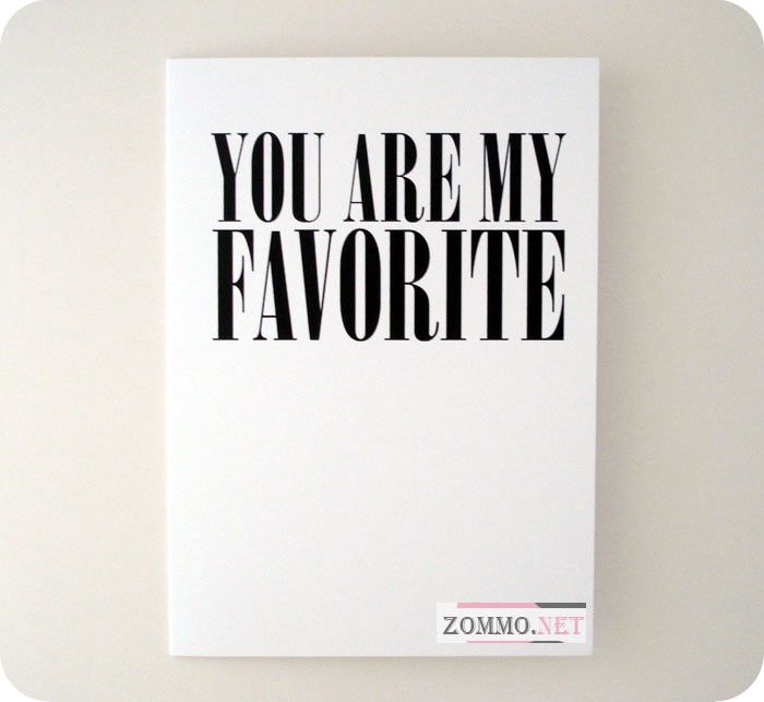 "Валентинка ""You Are My Favorite"""