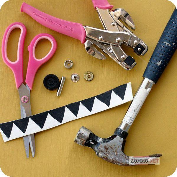 Инструменты и материалы для создания браслета с узорами