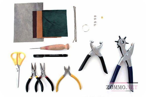 Материалы для создания брелка из кожи