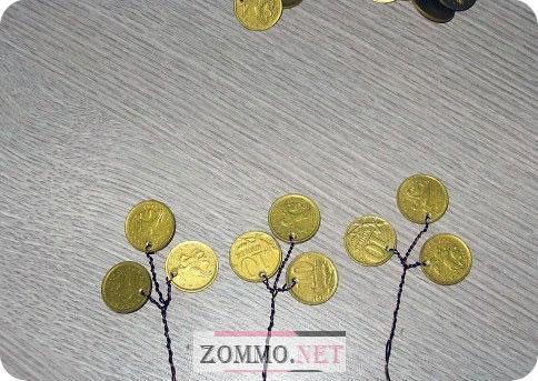 Веточки из монеток