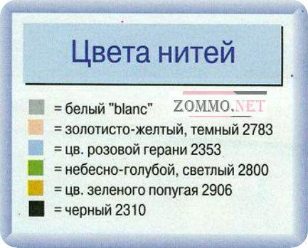 Таблица цветов нитей