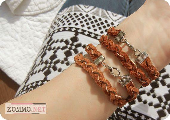 Кожаный браслет плетеный мастер класс