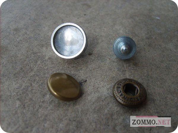 Насадки и кнопки для браслета из кожи