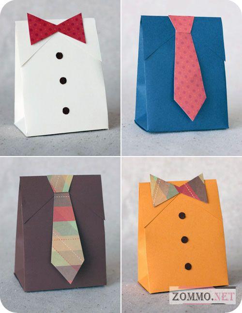 Мужская подарочная упаковка с галстуком и бабочкой