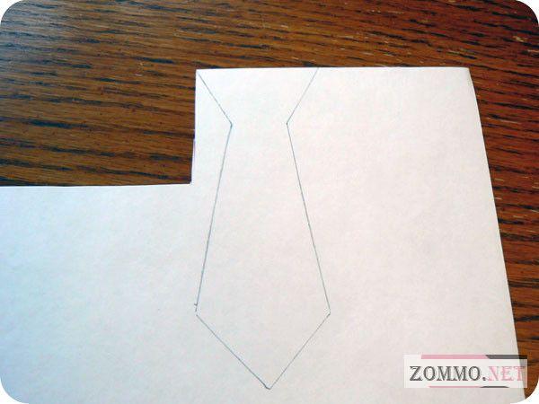 Рисуем галстук для открытки