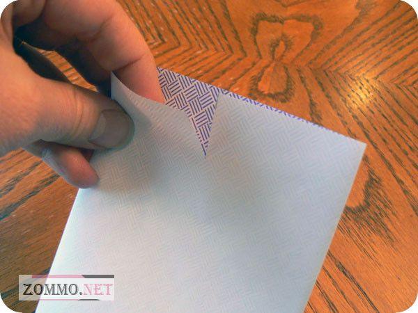 Надрезаем конверт