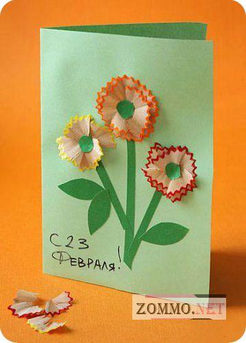 Простая детская открытка на 23 февраля