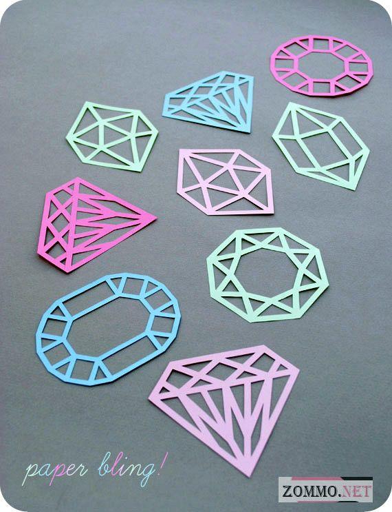 Бумажные шаблоны драгоценных камней