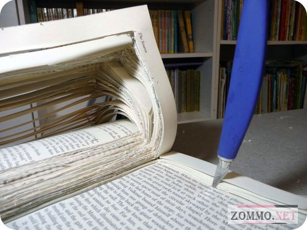 Вырезаем тайник в книге