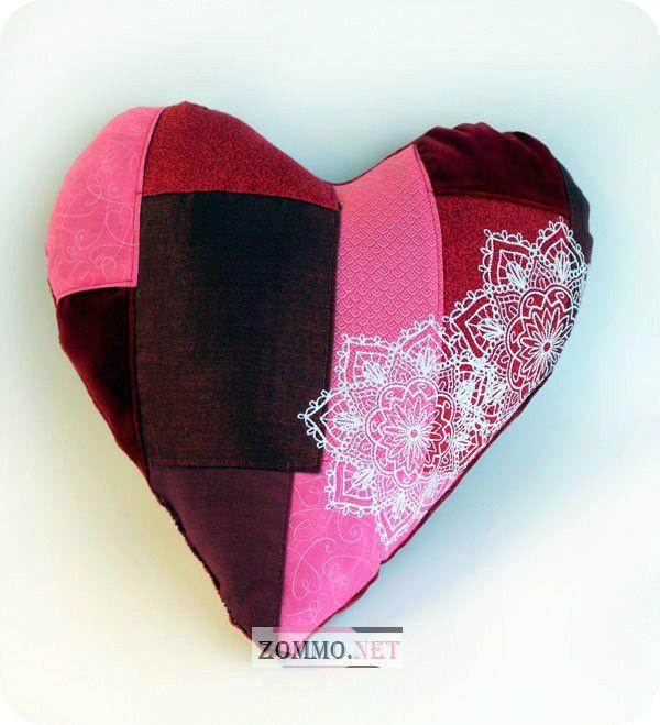 Сердце пэчворк