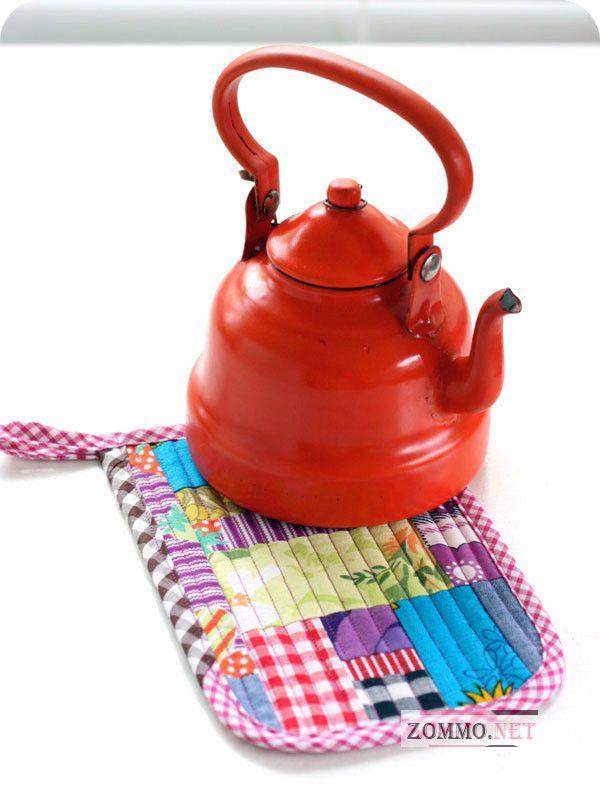 Коврик для чайника пэчворк
