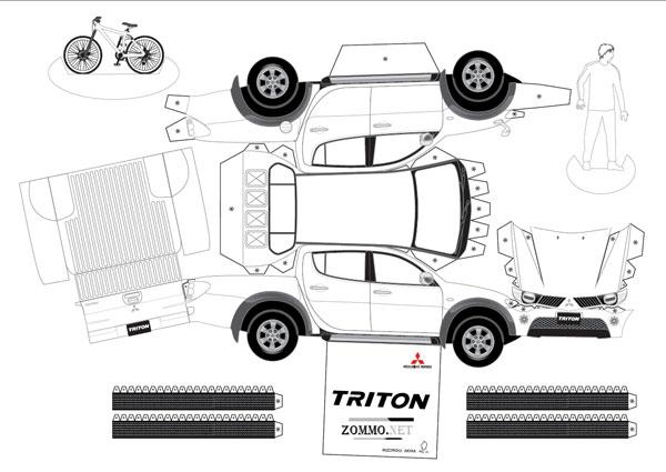 Mitsubishi L200 Triton из бумаги