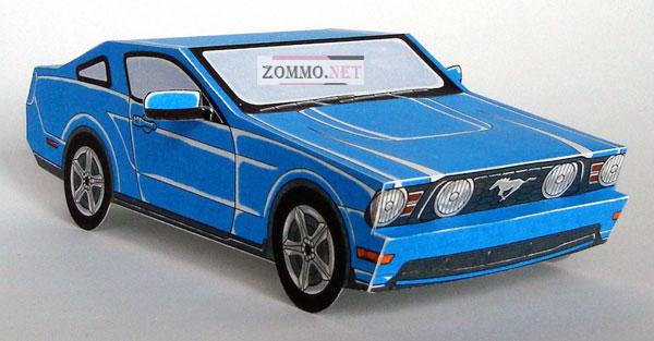 Ford Mustang из бумаги