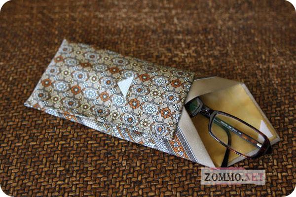 Чехол для очков из галстука