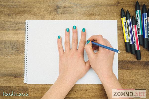 Рисуем объемную руку