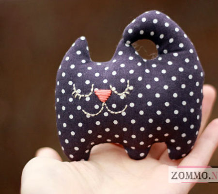 Мягкая игрушка котик своими руками