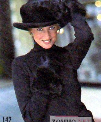 Меховая отделка шляпы и кожаных перчаток