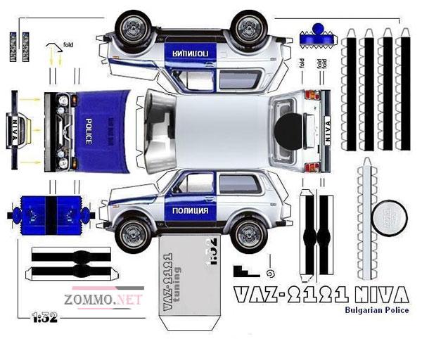 Полицейская машина ВАЗ 2121(Нива)
