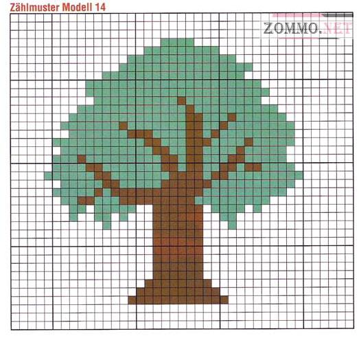 Схема для вышивки денежное дерево