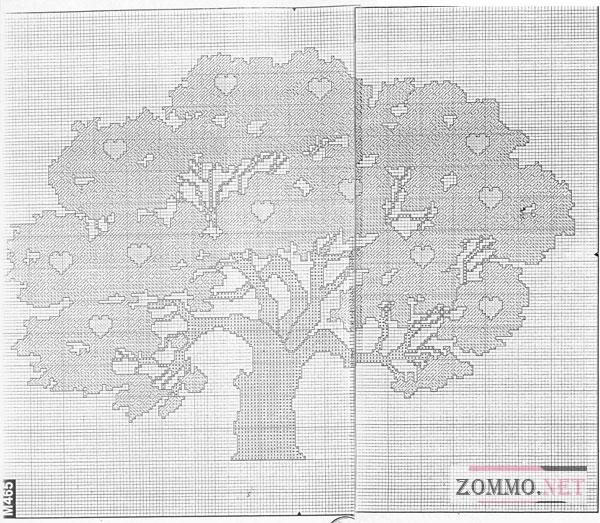 Схема денежного дерева для вышивки