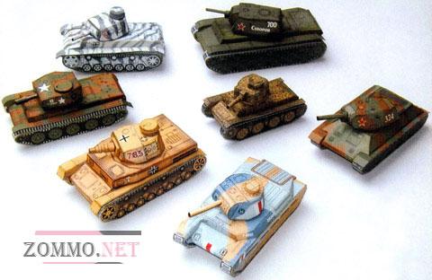 Танки Т-34 и другие(7 видов)